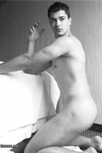 Guillaume Bousses nude in Gods of the Stadium