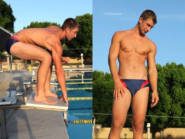 male swimmer naked