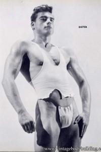 Sexy vintage bodybuilder