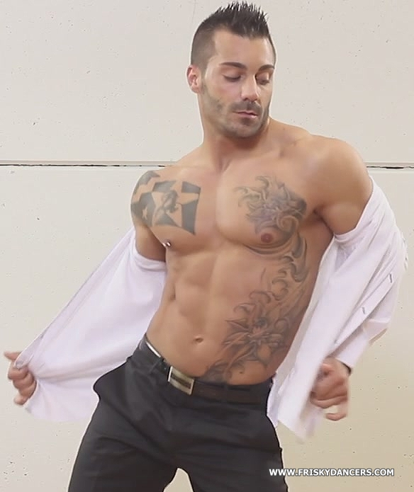 Spanish male stripper Adrian