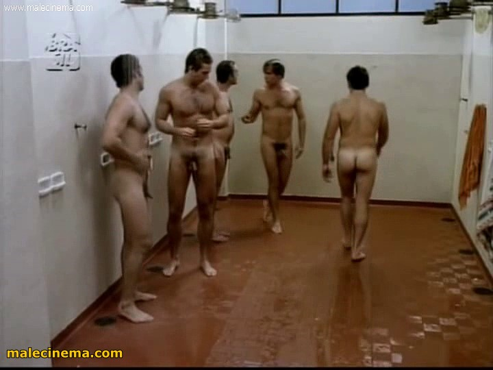 naked men showering