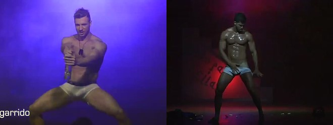 latin male stripper Solo para ellas