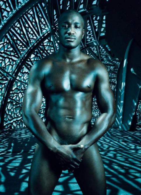 black sportsman naked