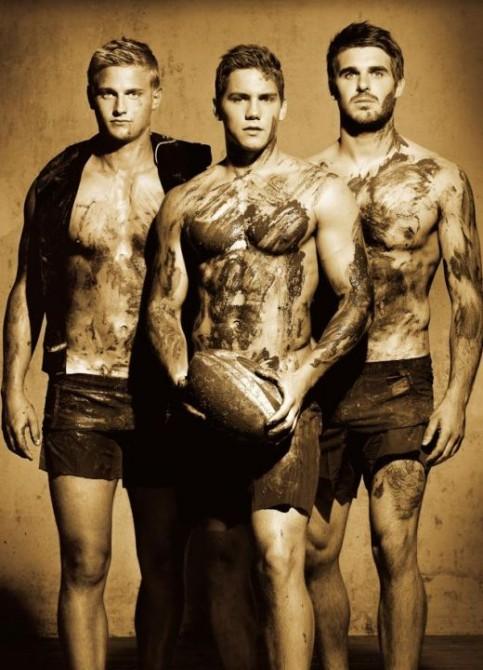 handsome sportsmen