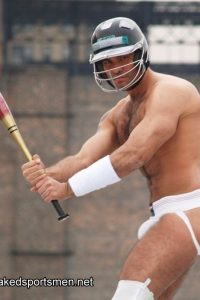 Baseball player hairy hunk naked