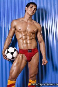 Charming footballer