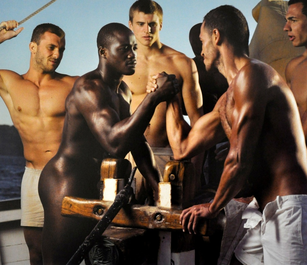 muscle men of Dieux du Stade 2013