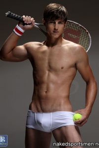 Sexy tennis player naked