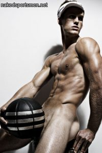Football player naked
