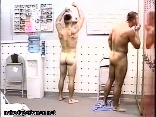 naked men in locker room